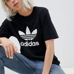 adidas | originals classic trefoil black tee sz M